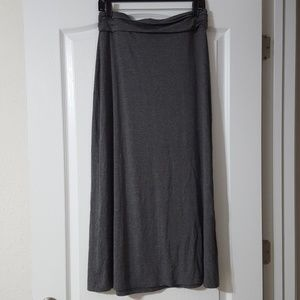 J. Crew Jersey Maxi Skirt in Heathered Gray